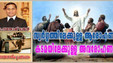Photo of Ascension Sunday_Year A_സ്വർഗ്ഗത്തിലേക്കുള്ള ആരോഹണം, കടമയിലേക്കുള്ള അവരോഹണം