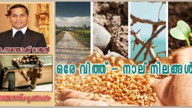Photo of 15th Sunday of Ordinary Time_Year A_ഒരേ വിത്ത് – നാല് നിലങ്ങൾ