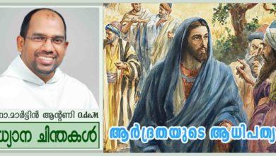 Photo of 22nd Sunday Ordinary Time_year A_ആർദ്രതയുടെ ആധിപത്യം (മത്താ 16:21- 27)